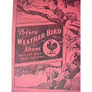 Peters Weather Bird Shoes Advertising Writing Booklet