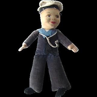 Norah Wellings Sailor Boy Doll Vintage 30s-40s