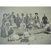 Black Americana Tintype Black Nannies At The Beach With Family And Dogs