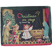 Christmas On Stage Popup Book By Charlot Byi 1950s
