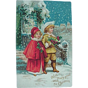 With Every Good Wish For Christmas Postcard Series No 46
