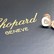 SALE Authentic 18K Gold CHOPARD Happy Diamonds Heart Earrings