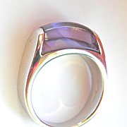 SALE Gorgeous 18K WG Authentic Bvlgari Tronchetto Amethyst Ring