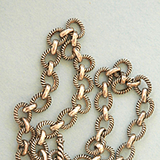 Heavy Decorative Link Silver Toggle Necklace
