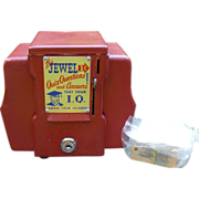 The Jewel 1 Cent Fortune Teller Napkin Holder Coin Op Trade Stimulator
