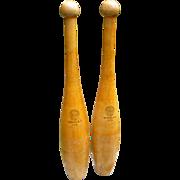 Pair Of Spalding Indian Juggling Pins