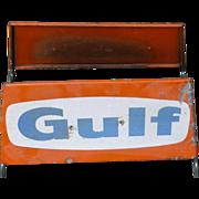 Gulf Gasoline Advertising Tire Stand