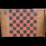 Folk Art Checkerboard In Old Paint