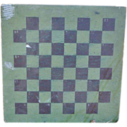 SOLD Folk Art Double Sided Gameboard In Old Paint