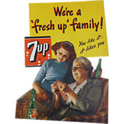 7UP Advertising Store Display Sign