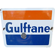 Gulf Gas And Oil Porcelain Pump Advertising Sign