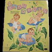 Uncut 1958 4 Baby Dolls Paper Dolls