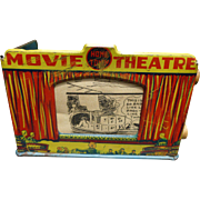 Louis Marx Home Town Tin Litho Movie Theater