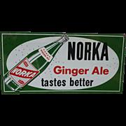 Norka Ginger Ale Advertising Sign