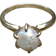 10K Gold Freshwater Pearl Ring
