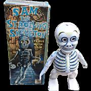 Sam The Strolling Skeleton Halloween Wind Up Toy