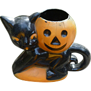 Rosbro Halloween Cat And Pumpkin Candy Container
