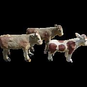 Paper Mache Putz Cows - Nativity Ark Farm