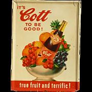 SOLD Cott Soda Advertising Sign