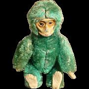 SALE Rare Green Mohair Schuco Compact Monkey