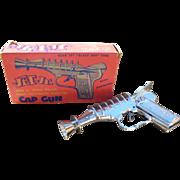 J & E Stevens Jet Jr. Space Police Toy Cap Gun W/Original Box