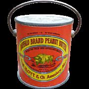 Buffalo Brand Peanut Butter Tin Pail