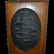 Early Philadelphia Cast Iron Insurance Fire Mark