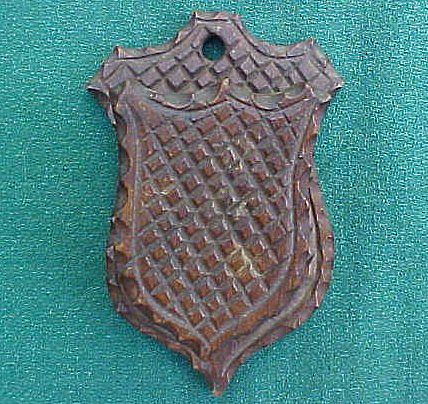 Folk Art Chip Carved Match Safe