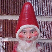 SALE Wonderful German Christmas Santa Paper Mache Candy Container