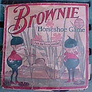 SALE Vintage Tin Brownie Horseshoe Game Complete In Box