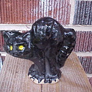 SOLD Halloween Black Cat Candy Container
