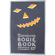 SALE 1922 Dennison Halloween Bogie Book