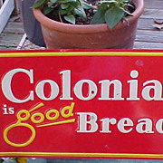 Colorful Colonial Bread Tin Advertising Sign