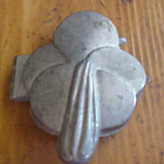 SALE Pretty Easter Lily Pewter Ice Cream Mold