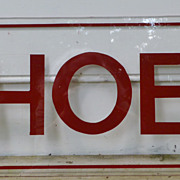 Retro Lucite SHOES Sign