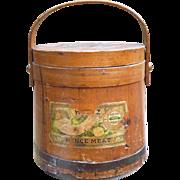 Heinz Mince Meat Firkin Bucket With Original Labels