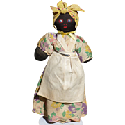 Exceptional Stockinette Black Mammy Cloth Doll