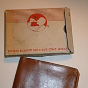 Vintage Coca Cola Wallet W/Original Box