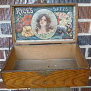 SOLD Rice's Seeds Store Display Box