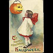 SOLD Artist Signed Ellen Clapsaddle vintage Halloween Postcard