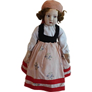 Pretty 12 inch Lenci type felt doll in provincial outfit