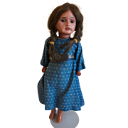 Cute Bisque Scowling-faced Indian Girl vintage collectible doll