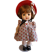 Cute Hard Plastic Vintage Collectible Doll from the 1950's 12.5""