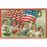 SOLD Spectacular Frances Brundage Tuck Decoration Day Vintage Patriotic Postcard
