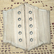 "8.5"" Boned Ivory Doll Corset 5 Sets Grommets"
