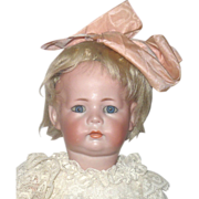 15 Inch Kammer & Reinhardt 115a Toddler Blue Sleep Eyes Lace Dress