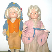 "Effanbee 9.5"" George & Martha Patsyettes Original Costumes"