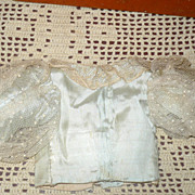 19th Century Pale Aqua Lined Silk & Net Fashion  Blouse
