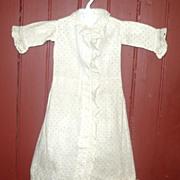 19th C Roller Dot Print Linen Morning Dress for China