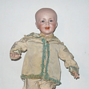 "Vintage 2 PC Ivory Taffeta & Blue Silk Suit 14""-15"" Boy Doll"